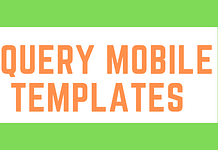 jQuery Mobile Templates