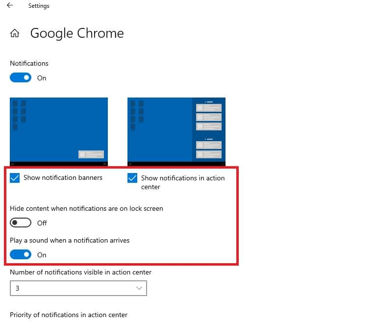 Turn off chrome notifications windows 10