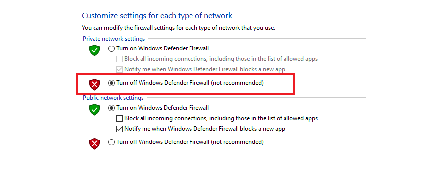 How To Turn Off Firewall Windows 10 2