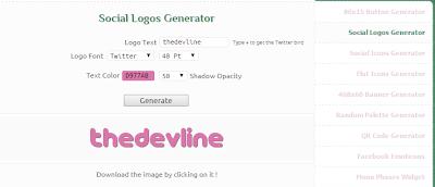 Social Logos Generator
