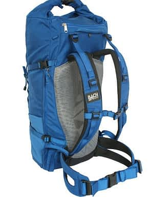 Hiking backpack with suspended taut net