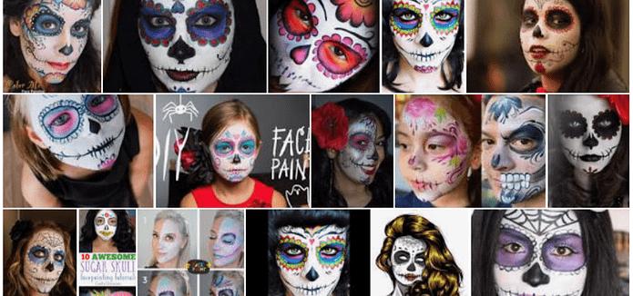 Sugar Skulls Face Paint