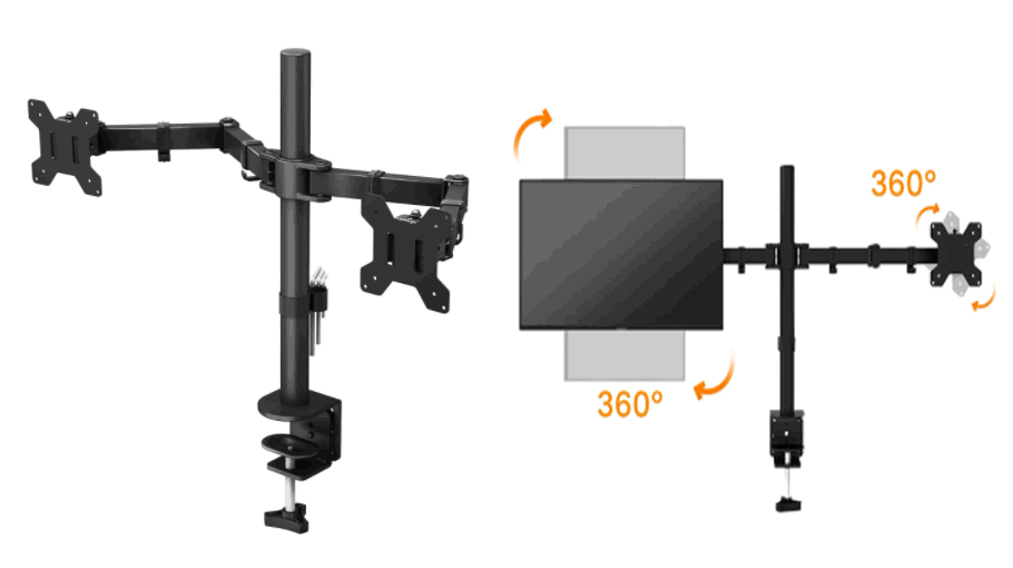 Bontec 360º Dual Monitor Mount for 13-27