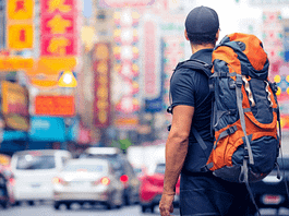 Where should a backpack sit on your back