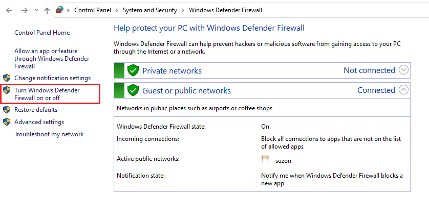 How To Turn Off Firewall Windows 10 1