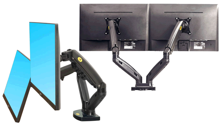 NB North Bayou Dual Monitor Desk Mount