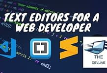 Best 5 Text Editors For Developer